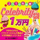 ★2016新年福袋★CELEBRITY袋★POPでCUTEな商品が3万円相当入って1万円ポッキリ!