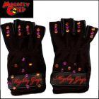 【Mighty Grip/ マイティ グリップ】ポールダンス/ブローブ/ビーズ付き/手袋/ブラック ★・:ポールダンス、ピラティスなどに最適:・★