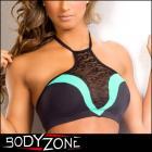 トップ/スポーツウェア/ブラ/グラマラスなホルタートップブラ【Body Zone/ボディーゾーン】