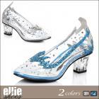 【Ellie Shoes/エリーシューズ】クリアパンプス/シンデレラ/エルサ/透明/ヒール/コスプレ/靴