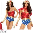 スーパーウーマン/女性スーパーマン ☆誘惑するセクシースーパーヒーロー☆ ハロウィンコスチューム by フォープレイ