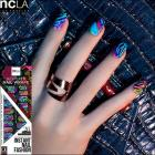 【ncLA/エヌシーエルエー】ネイルシール/ネイルラップ/爪に貼るだけで/ネイルアート(羽/フェザー/カラフル)