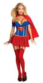 【ルビーズコスチューム】<3点セット>スーパーマンより「胸元セクシースーパーガール」★