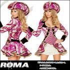海賊/パイレーツ/船長/キャプテン/ セダクティブ パイレーツキャプテンコスチューム4点セット 【ローマコスチューム/Roma Costume】