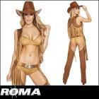 ワイルドでセクシーなカウガール風★ワイルドウエスタン5ピースセット【ローマコスチューム/Roma Costume】