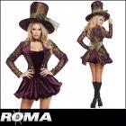 【Roma costume/ローマ コスチューム】不思議の国のアリス/マッドハッター/コスプレ/ミニワンピース