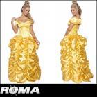 【Roma costume/ローマ コスチューム】美女と野獣/ベル/ロングドレス/イエロー