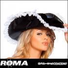 海賊/パイレーツ/ハット/帽子 レザーレットパイレーツハット 【ローマコスチューム/Roma Costume】