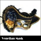 パイレーツベネチアンマスク(ブラック)★海賊コスチュームにマッチ/仮装仮面/ヴェネチアンマスク