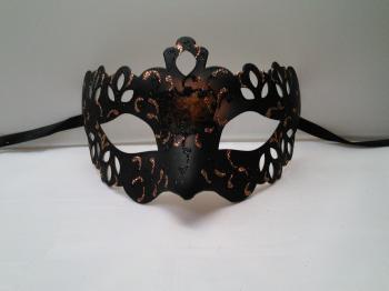 ミステリアスなヴェネチアンマスク(単品)【ヴェネチアンマスク】ブロンズカラー