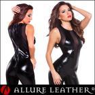 ボンデージ/フェティッシュ ウェットルック メッシュキャットスーツ by アルーアレザー (Allure Leather)