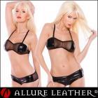 ボンデージ/フェティッシュ ウェットルック メッシュバンド ショーツセット by アルーアレザー (Allure Leather)