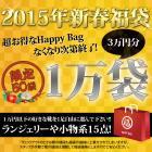 限定50袋の超お得なHappy Bag 2015 ☆1万円以下のお好きな靴一足+ランジェリーや小物系14点=トータル15点の3万円相当が入って1万円★