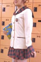 清純派女子高生★2点セット★ギンガムチェックセーラーブレザー学生服