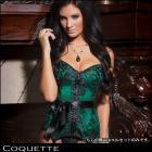 Coquette【Coquette/コケット】デザインも色もロイヤルセクシー☆みどりのコルセット☆ボンテージ