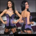 Coquette【Coquette/コケット】パッド入りカップ付ライラックカラービスチェ/セクシー/ボンテージ