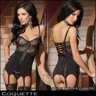 Coquette【Coquette/コケット】レースボディスがセクシー☆ブラックコルセット★ボンテージ