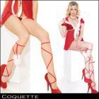 ブーツに飽きちゃったあなたに★サンタレッグタイ(両足用)【Coquette/コケット】クリスマス/レッグラップ/サンタ/GOGOダンサー