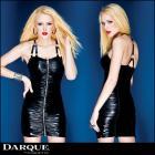 ドレス/ワンピース/ウェットルックホルターネックギャザードドレス【ダーク/Darque】女王様/SM/ボンデージ