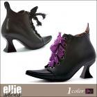 【Ellie Shoes/エリーシューズ】ショートブーツ/ポインテッドトゥ/とんがり/魔法使い/魔女