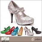 【Ellie Shoes/エリーシューズ】グリッターパンプス/ストラップ/プラットフォーム/6色展開