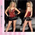 【レッグアベニュー】ワイルドなセクシーさ★ジッパーのディテール付き光沢ブラック激ミニスカート♪