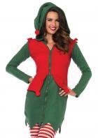 クリスマスカラーのキュートなエルフコスチューム♡フリースドレス単品【LegAvenue/レッグアベニュー】