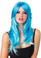 ロングウィッグ/鮮やかなブルーのグラデーション2色カラーウィッグ【レッグアベニューレイブウェア/Leg Avenue Rave Wear】