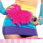ハート型ふわふわウエストバッグ/腰バッグ【レッグアベニューレイブウェア/Leg Avenue Rave Wear】