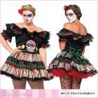 怖可愛い☆死体人形のプラスサイズコスチューム2点セット【レッグアベニュー/Leg Avenue】人形/ハロウィン/プラスサイズ