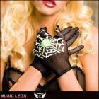 ネットグローブ/手袋/コスチューム/クモのプリントがかわいいスパイダープリントショートグローブ【ミュージックレッグ/Music Legs】