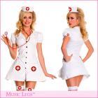 ボタンアップフロント☆Aラインナースドレス 3点セット ハロウィン/ナース/看護婦/メディカル【ミュージックレッグ/ハロウィン】