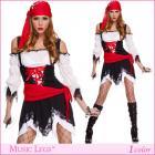 悪そうなパイレーツコスチューム3点セット【Music Legs/ミュージック】パイレーツ/海賊