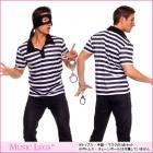 囚人の男コスチューム3点セット【ミュージックレッグ/MUSIC LEGS】囚人服/仮装/コスプレ/ハロウィン