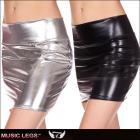 スカート/ミニスカート/ミニスカ/クラブウェア/サイバーな雰囲気の光沢メタリックミニスカート【ミュージックレッグ/Music Legs】
