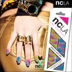 ネイルシール/ネイルラップ/爪に貼るだけで簡単に本格的ネイルアートが楽しめるネイルシール(トリップ)【ncLA/エヌシーエルエー】