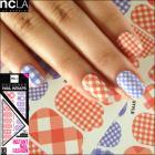 ネイルシール/ネイルラップ/簡単にネイルアートが楽しめるネイルシール(ギンガムチェック)【ncLA/エヌシーエルエー】