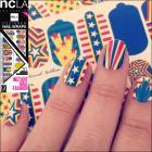 ネイルシール/ネイルラップ/簡単にネイルアートが楽しめるネイルシール(アメリカンスター)【ncLA/エヌシーエルエー】