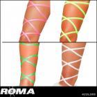 レッグラップ/ダンスウェア/約254センチのドット柄カラーレッグラップ2本セット〔全4色〕【ローマコスチューム/Roma Costume】