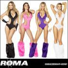 【Roma Costume/ローマコスチューム】ロンパー/フリンジがアクセントのセクシーロンパー(単品)【全4色】