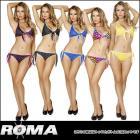 【Roma Costume/ローマコスチューム】ビキニ/サイドリボンがキュートな上下ビキニセット(2点セット)【全6色】