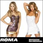 裾のメタリックがアクセント!ミニ チューブドレス単品【ローマコスチューム/Roma Costume】 ホリデー/パーティー
