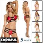 【Roma costume/ローマコスチューム】ダイヤモンド/トリプルストラップ/ビキニ/ホルターネック/衣装/4color