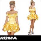 【Roma costume/ローマ コスチューム】美女と野獣/ベル/プリンセス/ミニドレス/コスチューム/オフショルダー
