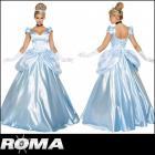 【Roma costume/ローマ コスチューム】シンデレラ/ロングドレス/プリンセス/ブルー/コスチューム