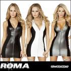 2トーン切り替えがカワイイ☆ジップアップミニドレス単品 【ローマコスチューム/Roma Costume】