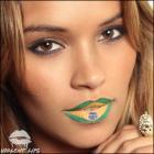 【バイオレントリップ/VIOLENT LIPS】リップタトゥー/ブラジルの国旗柄がおしゃれ☆リップタトゥーシール3枚セット