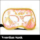 ベネチアンマスク/ヴェネチアンハーフマスク/仮面★ツタ柄が超可愛い♪ゴージャスマスク(ピンク)☆